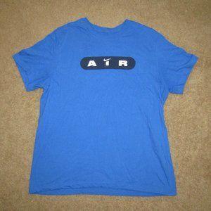 Nike Air Shirt Blue White Sz XL Basketball Train